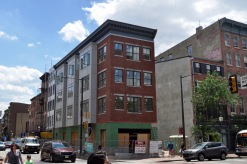 Originally a jail and later a tuxedo store, this building was currently under construction